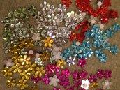 20 perline a fiore adesive
