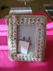 portafoto con perline