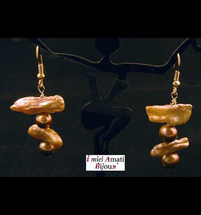Orecchini perle coltivate...