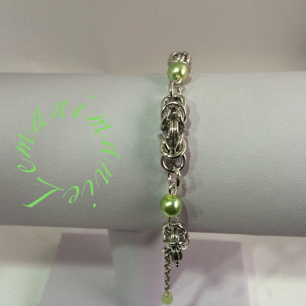 #braccialino #chainmail# perle di boemia