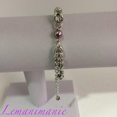 #braccialino #chainmail #perle di Boemia