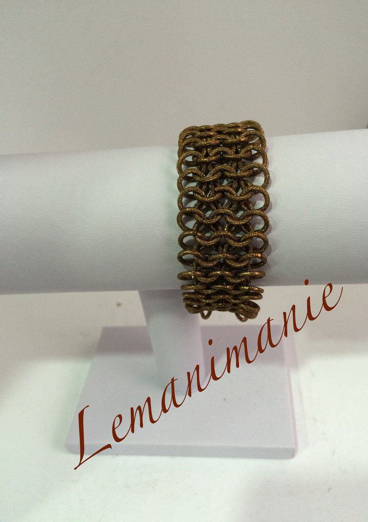 #bracciale #chainmail #colorbronzo
