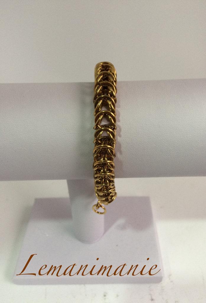 #bracciale #bronzo #chainmail