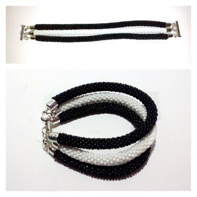 Bracciale tre fili perline toho beads crochet