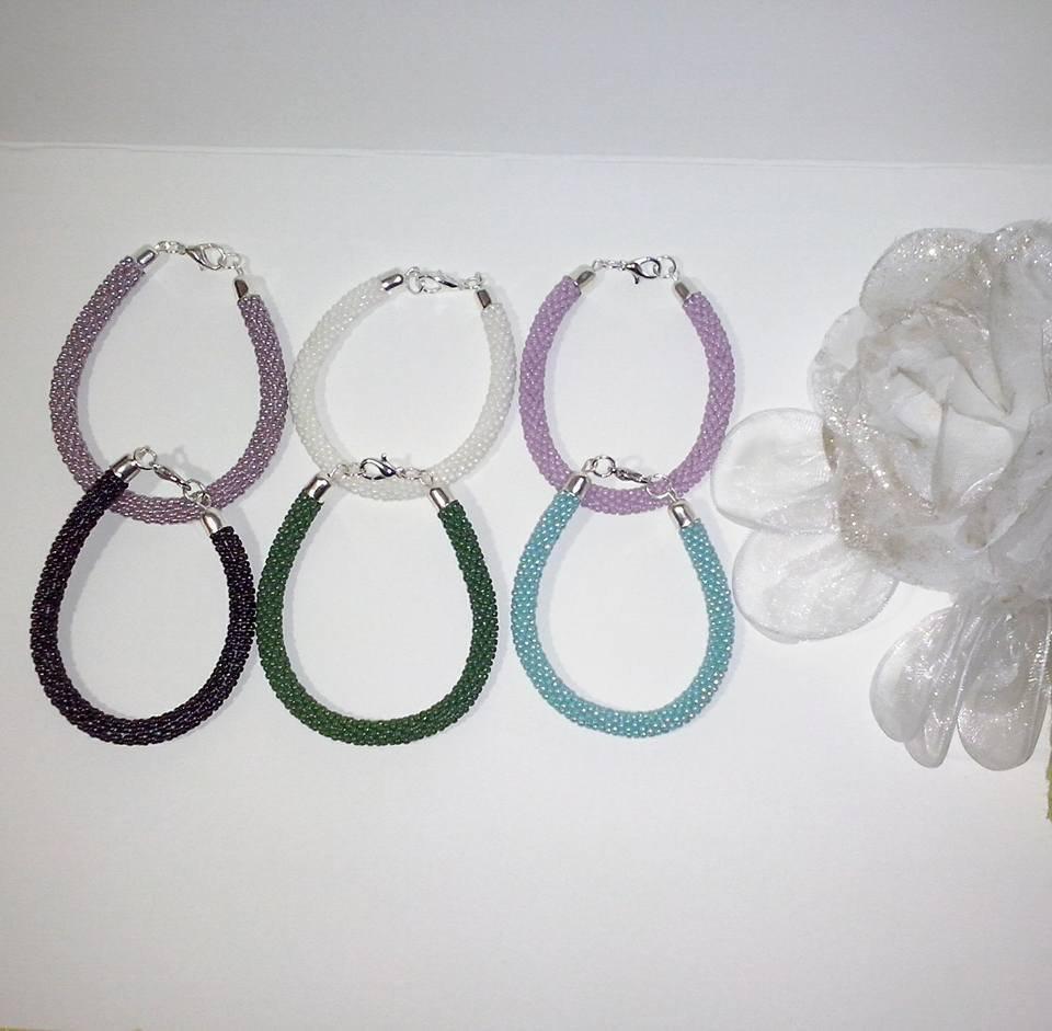 Braccialetto perline toho beads crochet