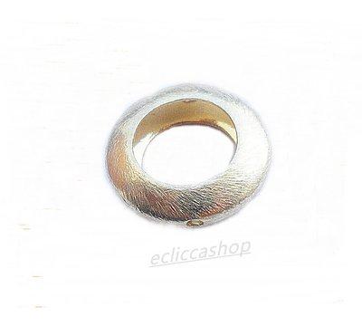 Perlina Distanziatore ad anello argento indiano satinato
