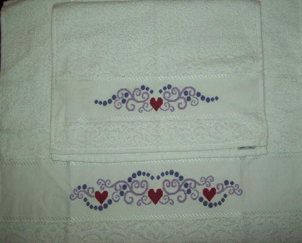Coppia Di Asciugamani A Punto Croce Per La Casa E Per Te