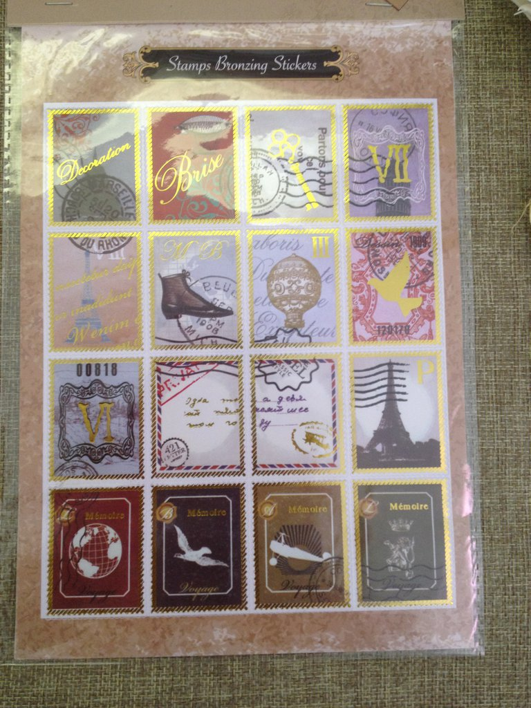 1 foglio francobolli adesivi