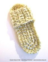 Schema per ciabattine a crochet/uncinetto in filo di plastica riciclata -- Pattern in PDF