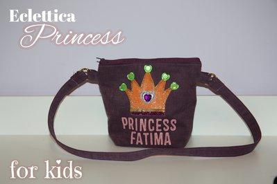 Borsetta con diadema e nome personalizzato per bambine