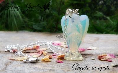 Collana Angelo Custode opale