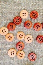 20 bottoni in legno