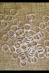 50 anellini apribili in metallo