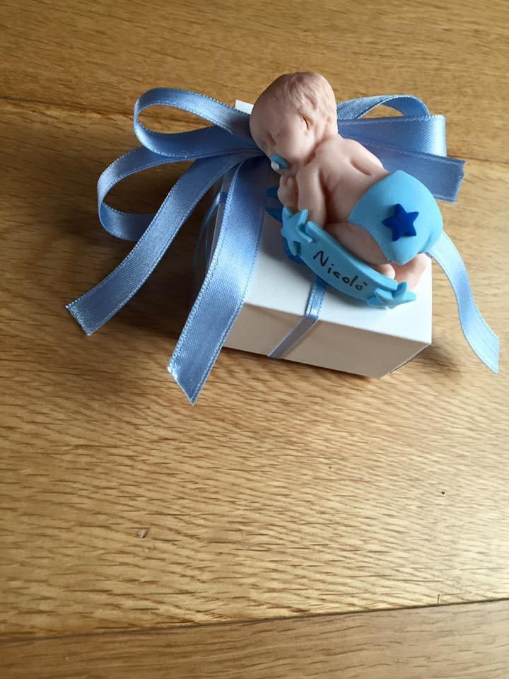 Bomboniere bebè in fimo personalizzabile