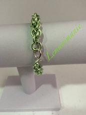 #bracciale #verde #chainmail