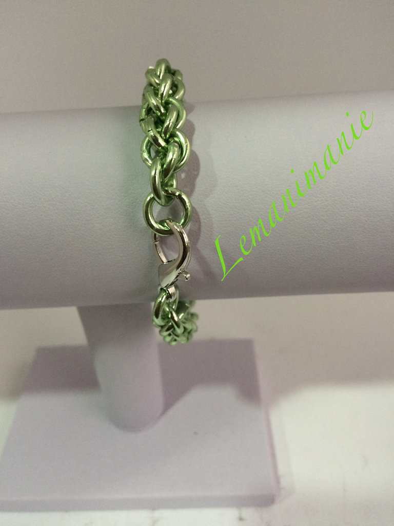 #bracciale #verde #chainmail