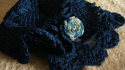 Cappellino Jeans bimba con fiorellino