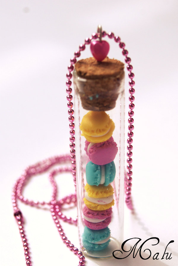 ♥ collana Macarons in the bottle ♥