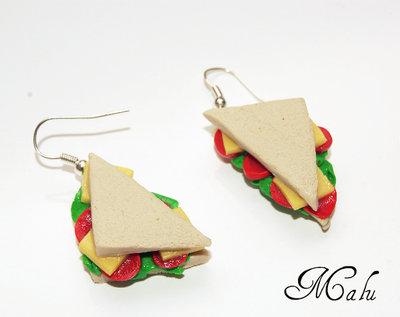 ♥ orecchini Sandwich ♥ miniatura hand made
