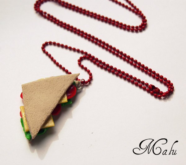 ♥ collana Sandwich ♥ miniatura panino hand made