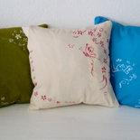 cuscino dipinto a mano