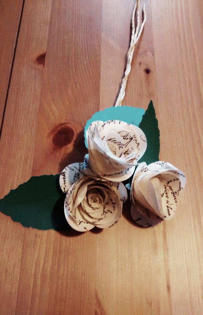 Bouquet di rose per matrimonio, rose di carta, paper bouquet