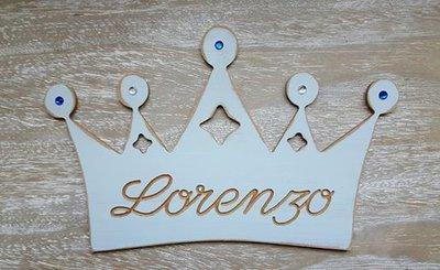 Corona con nome da  Principe e Principessa