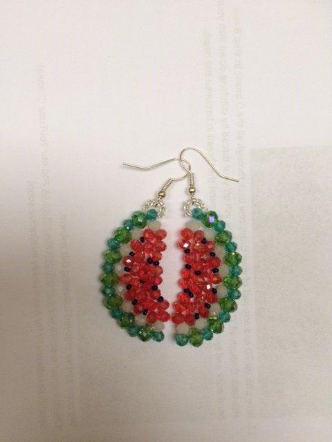 orecchini anguria colorati