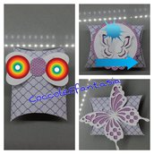 scatolina porta confetti pillow box da personalizzare