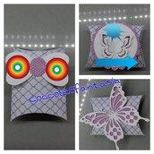 scatolina porta confetti pillow box da personalizzare