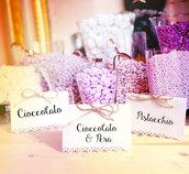 Cartellini confettata per matrimonio ed eventi