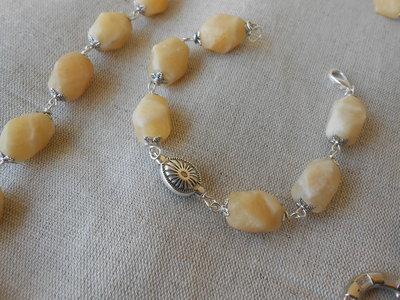 Bracciale con pietre dure giallo chiaro, idea regalo.