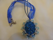Collana Blue Rose