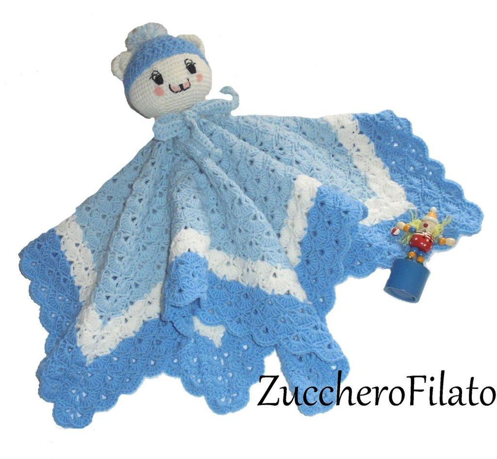 Dud copertina crochet di sicurezza per neonato testolina for Lo spazio di lilla copertine neonato