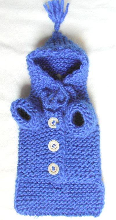 nuovo prodotto 20bc8 c4d2f BubaDog Cappottino cane con cappuccio in maglia, Fatto a mano