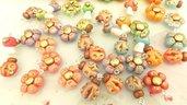 FIMO - 6 CIONDOLI  a SCELTA CHARMS ESTATE - colori PASTELLO antichizzati - bomboniera idea regalo