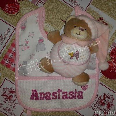 Set regalo bavaglia più orsetto
