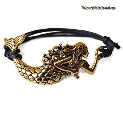 Bracciale sirena colore oro antico