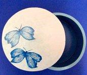 """Scatola in legno portagioie dipinta a mano """"Farfalle"""""""