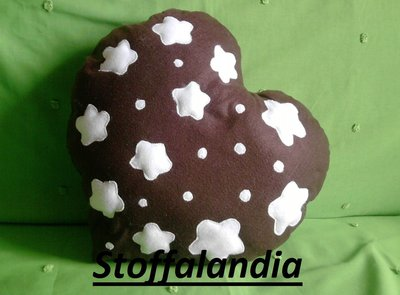CUSCINO PAN DI STELLE CUORE IDEA REGALO