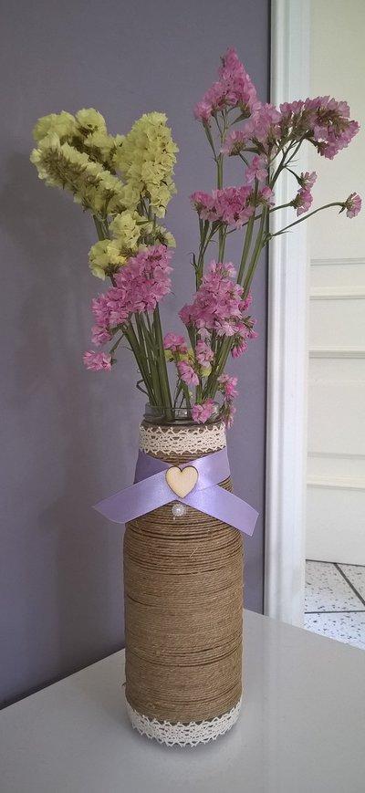 barattoli decorati porta fiori ed accessori