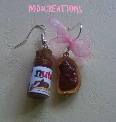 Orecchini Nutella... (fimo) hand made - senza stampini!!!