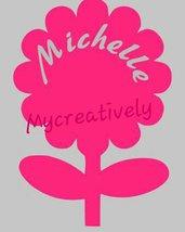 Sticker  color fucsia per bambina con fiore e nome