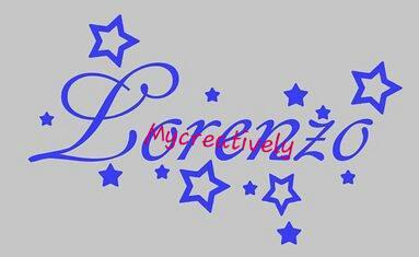 Sticker azzurro  per camera bambino con stelle