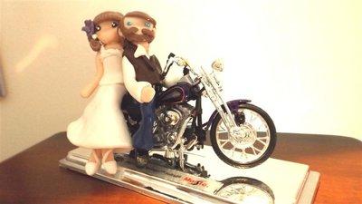 INSERZIONE RISERVATA PER SILVIA - top cake matrimonio - fimo e modellino moto
