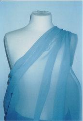tessuto seta 100% azzurro