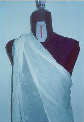 tessuto seta pura 100% bianco