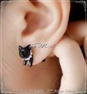 Mono Orecchino Gatto Nero