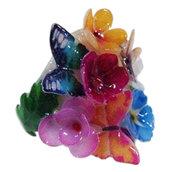 Anello con fiorellini multicolori
