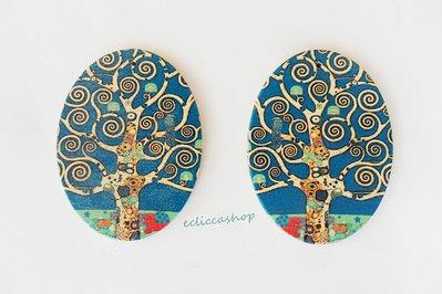 Medaglione ciondolo GRANDE Ovale in legno  ALBERO DELLA VITA 1pz